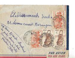 Enveloppe Par Avion 1951 / Afrique Equatoriale Française HAUTE VOLTA Bobo Dioulasso Pour Sarda BESANCON - A.E.F. (1936-1958)