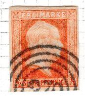ALLEMAGNE - (Prusse) - 1850-56 - N° 2 - 6 P. Rouge-orange - (Frédéric-Guillaume IV) - Prusse
