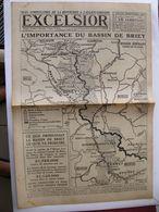 Journal EXCELSIOR 15 Novembre 1918 L'Importance Du Bassin De BRIEY LONGWY PONT A MOUSSON NANCY 2 Avions Tombés à Paris - 1914-18