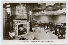 L. N. E. R. S. S. PRAGUE - CORNER OF FIRST CLASS SMOKING ROOM (HARWICH - HOOK OF HOLLAND SERVICE) - Piroscafi