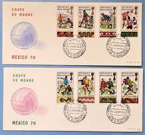 FDC - RWANDA - 1970 - Coupe Du Monde Mexico - Football - Republique Rwandaise - Lot De 2 - Rwanda