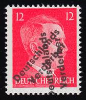 Meißen 34DD Aufdruckmarke Hitler 12 Pf. - Marke Mit Doppeltem Aufdruck, ** - Germany