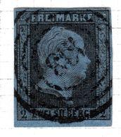 ALLEMAGNE - (Prusse) - 1850-56 - N° 4 - 2 S. Noir S. Bleu - (Frédéric-Guillaume IV) - Prusse