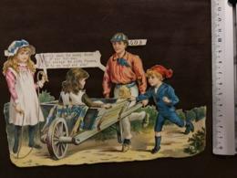 DECOUPIS ANCIEN -  COURSE DE BROUETTE - N° 403 - TRES BON ETAT - MOYEN FORMAT - Alte Papiere