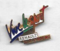 Pin's  Ville, Automobile  RENAULT  STRASBOURG  Vive  Le  Sport  ( 67 ) - Renault