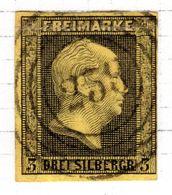 ALLEMAGNE - (Prusse) - 1850-56 - N° 5 - 3 S. Noir S. Jaune - (Frédéric-Guillaume IV) - Prusse