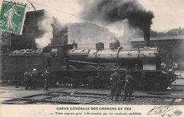 Thème Grève.  Paris. Grève Générale Des Chemins De Fer   .Train Express Pour Lille    ( Voir Scan) - Grèves