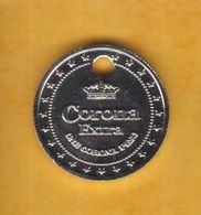 Jeton De Caddie En Métal - Corona Extra - Bière - Revers Pièce 1 Peso Mexique 2008 - Jetons De Caddies