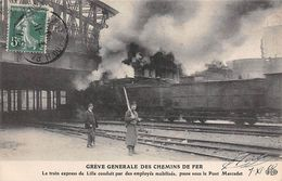 Thème Grève.Paris. Grève Générale Des Chemins De Fer.Train Express Pour Lille Passe Sous Le Pont Marcadet   ( Voir Scan) - Grèves