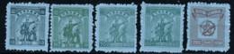 CENTRAL CHINA 1949 SCOTT 6L37,40,43,45,51 - Centraal-China 1948-49