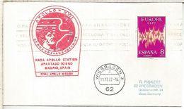 ESPAÑA ESTACION NASA ROBLEDO DE CHAVELA MISION APOLLO 17 1972 ESPACIO SPACE - Covers & Documents