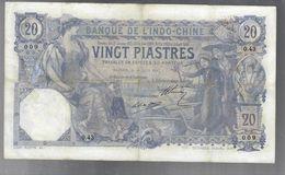 Indocina Indo-chine  20 Piastres Saigon 28 04 1917 Pick#38b Réparé Restauri Diffusi Lotto.1848 - Viêt-Nam