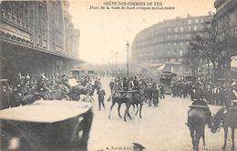 Thème Grève.Paris. Grève Générale Des Chemins De Fer.  Place De La Gare Du Nord    ( Voir Scan) - Grèves