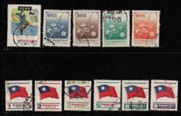 TAIWAN 1978 SCOTT 2108,2124-2126,2128,2131,2132,2153-2156 CANCELLED - 1945-... République De Chine