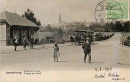 CPA Luxembourg Entrée De La Ville Et Le Tramway - Luxembourg - Ville