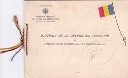 Rumania Carnet Del Congreso Postal De 1929 - Errors, Freaks & Oddities (EFO)
