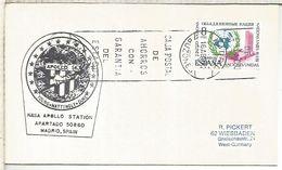 ESPAÑA ESTACION NASA ROBLEDO DE CHAVELA MISION APOLLO 16 1972 ESPACIO SPACE - Covers & Documents