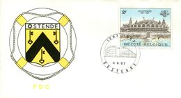 14167052 Be 19670603 Oostende; Kursaal;  Fdc Cob1418 - FDC