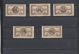 5 VIGNETTES LES ROIS DE FRANCE - CAPETIENS - LOUIS VII-LOUIS VI-PHILIPPE III-SAINT LOUIS - LOUIS VIII - Commemorative Labels