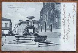 FAENZA - FONTANA PIAZZA UMBERTO I  - VIAGGIATA 1900 - Faenza