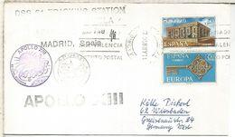 ESPAÑA ESTACION NASA ROBLEDO DE CHAVELA MISION APOLLO 13 1970 ESPACIO SPACE - Covers & Documents