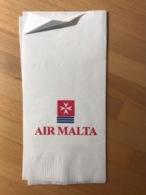 AIR MALTA NAPKIN - Articles De Papeterie
