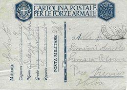 P.M. 201 Sur Carte De Franchise Militaire Italienne FM 1941 Vers Treviso - 1900-44 Victor Emmanuel III