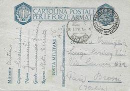 P.M. 56 Concentramento XI Sur Carte De Franchise Militaire Italienne FM 1941 Vers Broni - 1900-44 Victor Emmanuel III