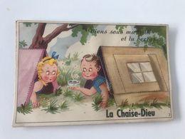 """Carte Postale Ancienne  Avec Dépliant Photos La Chaise-Dieu """"Viens Sous Ma Tente Et Tu Verras..."""" - La Chaise Dieu"""