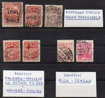 Lettland 1920 - 1934  7 Stamps With Railway Station Or Railway Line Cancellation  O / Used - Lettland