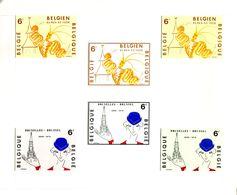 18178537 Belgique; Tourisme, Bx + Eupen St-Vith : 2 X 3 Essais De Couleurs = RARE : Tp Cob1909+1910 De Jean Malvaux. - Proofs & Reprints