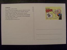 17823- USA Entier Carte Postale 20 C Popeye De E.C. Segar, Thème Bande Dessinée (comic Strip), Pipe, N, Parfait état - Stripsverhalen