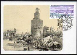 Spanien 1983  MiNr. 2606 Maximumkarte MK ; Spanisch- Amerikanische Geschichte: Sevilla - Tarjetas Máxima