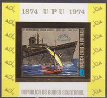 1974Equatorial Guinea464/B141bgold100 Years UPU - Ships11,00 € - Ships