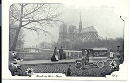 Camionnette Avec Publicité DELETTREZ Parfums Et Cosmétiques - N°9 (vers 1900) - VENTE DIRECTE X - Camions & Poids Lourds