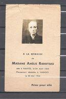 Image Pieuse Mme Amélie Raboteau Nantes 24/08/1864 Varades 25/05/1944 - Religion & Esotérisme