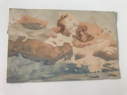 Carte Postale Ancienne (1900) Visages Dans Les Nuages - Künstlerkarten