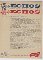 Lettre D'information De La Warner  N° 1 Du 6 Février 1947 - Publicidad