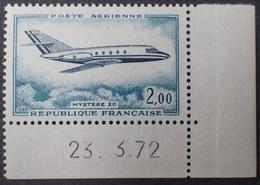 "R1337/58 - 1972 - POSTA AERIENNE - "" MYSTERE 20 "" - N°42 NEUF** COIN DATE - Posta Aerea"