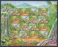 Malaysia - 1995 WWF Nebelparder Klbg. ** - W.W.F.