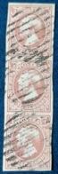 LUXEMBOURG * N° 2 Bande De 3 - 3er Streifen - Fleischfarbe - Chair Pâle - Certificat ! Superb ! - 1852 Wilhelm III.