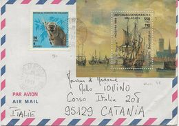 MADAGASCAR - LETTRE AFFRANCHIE BLOC N° 48 + TIMBRE N° 980 -ANNEE 1991 - Madagascar (1960-...)