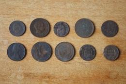 Lot De 10 Monnaies XIX Et XX A Identifier Non Triées - Otras Monedas