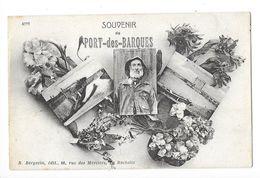 PORT DES BARQUES (17) Carte Fantaisie Souvenir 3 Vues - Francia