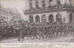Militaria - Armée Anglo-Indienne 1916 - Défilé Militaire Place De L'Opéra - Régiment - Indian Army - Banque - Guerre 1914-18