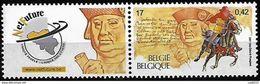 Belgique Belgie Belgium 2000 500 Anniv Courrier En L'Europe François De Tassis, 1 Val Mnh Avec Vignette NetFuture - Post