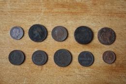 Lot De 10 Monnaies XIX Et XX A Identifier Non Triées Lot 2 - Monedas