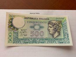 Italy Mercurio 500 Lire Uncirc. Banknote 1979 #10 - [ 2] 1946-… : Républic