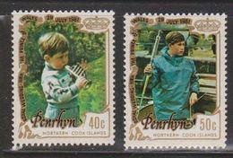 PENRHYN Scott # 176-7 MNH - Prince Charles As Child & Boy - Penrhyn