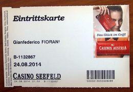 Ticket Biglietto Ingresso Casino Seefeld Austria 2014 - Tickets - Vouchers